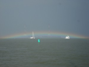 Amazing rainbow after a downpour in the Annapolis harbour