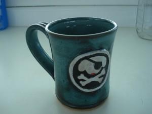 Salty Dawg Coffee Mug courtesy of Bamboushay Pottery, Tortola BVI