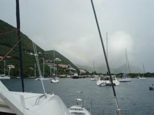 Soper's hole - one of many rainbows = rain