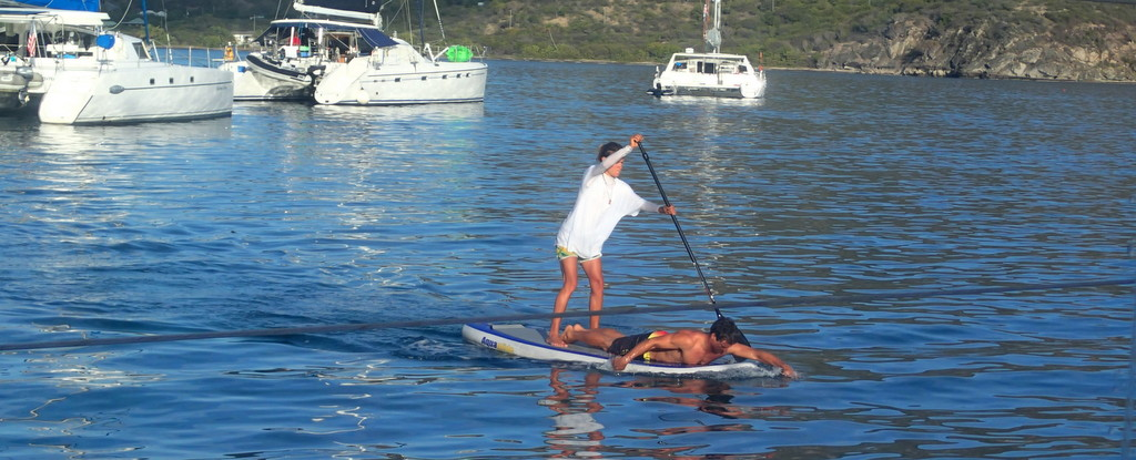 And a couple showing how to double up on a paddle board