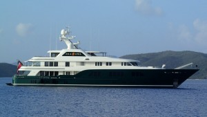 Mister Mercer's 1 year old 62m yacht - our neighbor