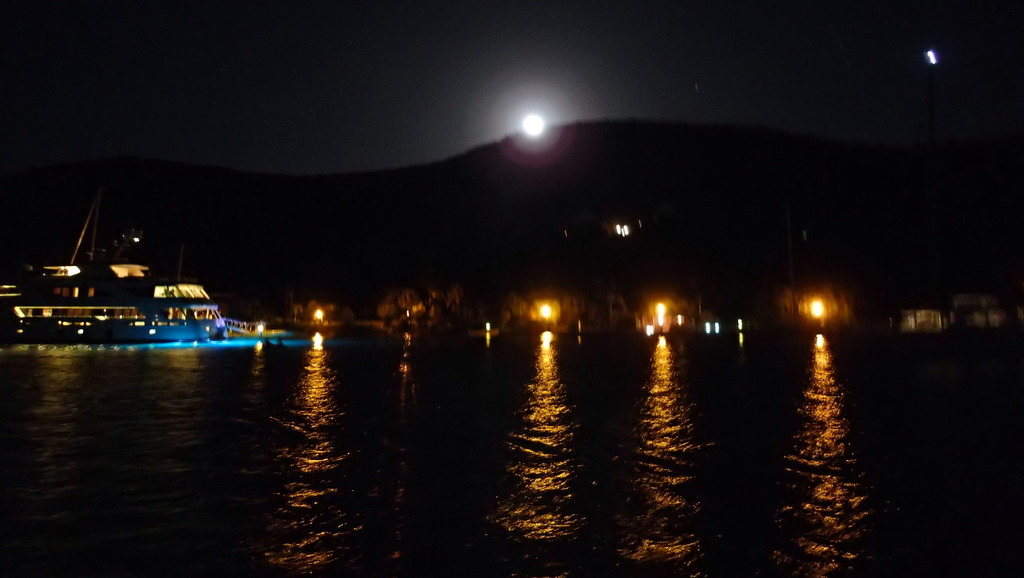 Full moon rising over Virgin Gorda in North Sound
