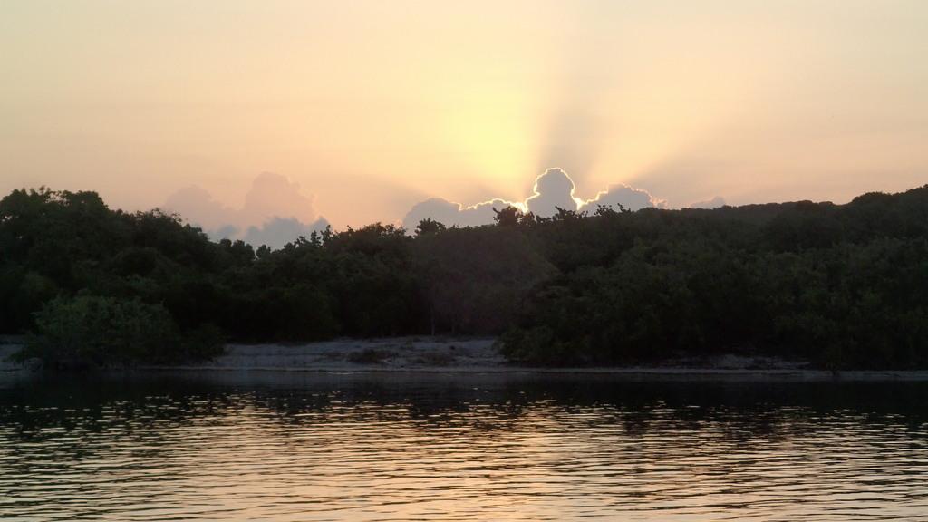 Sunrise over Green Island in Nonsuch Bay, Antigua