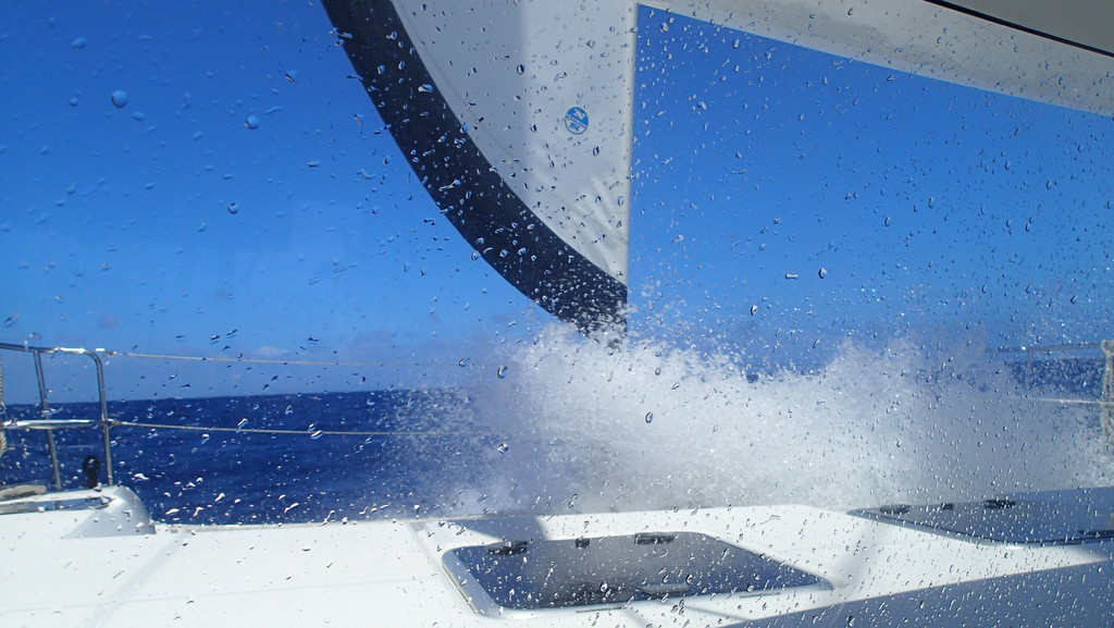 Deshaies to Antigua was a touch rough double reefed the whole way