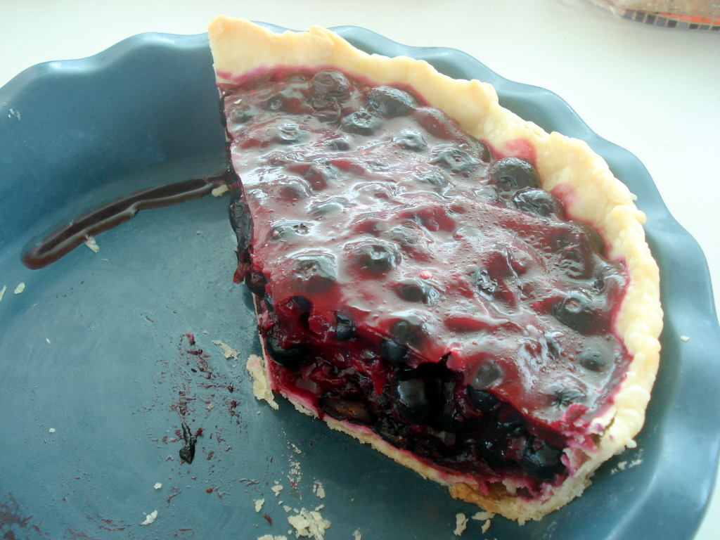 Enjoyed fabulous blueberry pie, recipe courtesy of Linda Knowles