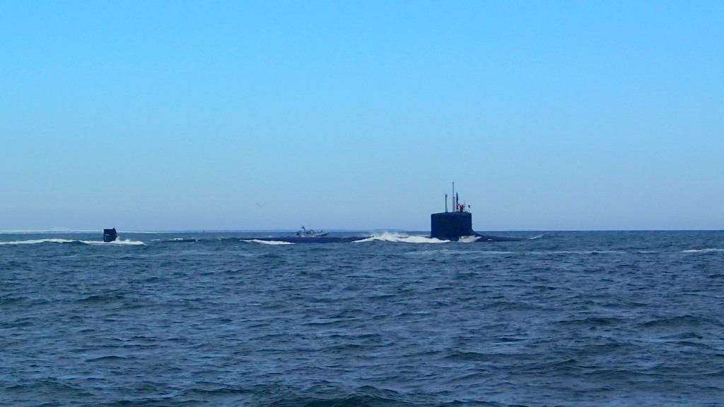 Leaving the Chesapeake with a nuclear sub escort