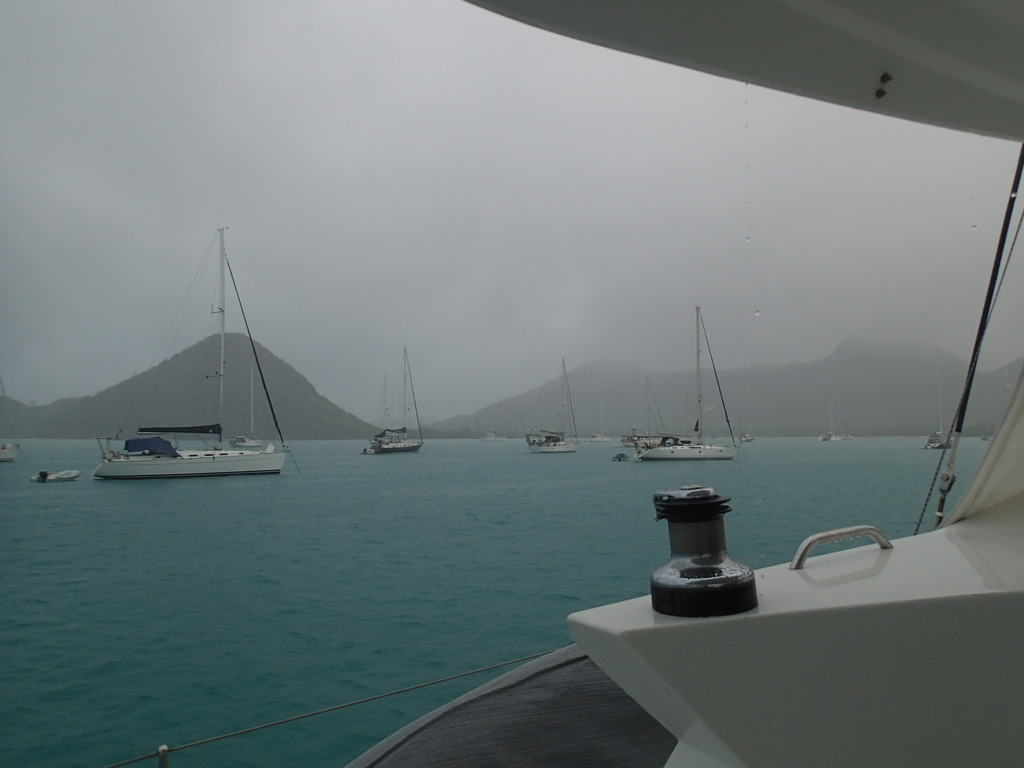 Rain in Jolly Harbour